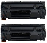 2 BLACK GENERIC CE278A LASER TONER CARTRIDGES - 2.1K