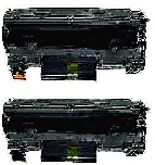 2 BLACK GENERIC CE285A LASER TONER CARTRIDGES - 1.6k