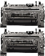 2 BLACK GENERIC CE390A LASER TONER CARTRIDGES - 10K YIELD