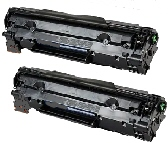 2 BLACK GENERIC CF283A LASER TONER CARTRIDGES - 1.5K PAGE YIELD