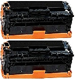 2 BLACK GENERIC CF410X LASER TONER CARTRIDGES - 6.5K High Yield