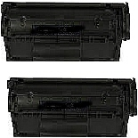 2 BLACK GENERIC Q2612A TONER CARTRIDGES - 2K YIELD