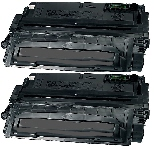 2 BLACK GENERIC Q5942X LASER TONER CARTRIDGES -20K High Yield