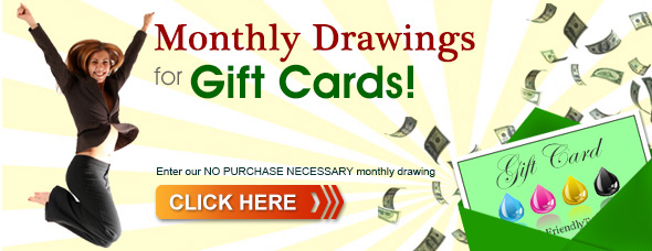 monthly drawings for gift cards